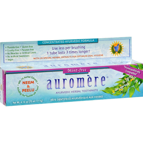 AUROMERE - Ayurvedic Herbal Toothpaste Mint-Free