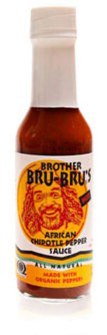 BROTHER BRU BRU - Organic African Chipotle Pepper Sauce - 5 fl. oz. (149 ml)