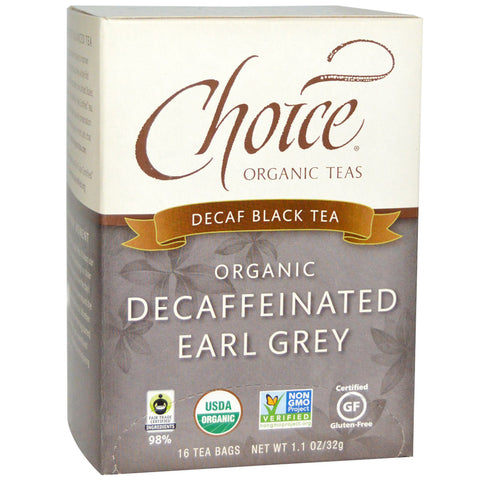 CHOICE - Decaf Black Tea Organic Decaffeinated Earl Grey