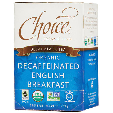 CHOICE - Decaf Black Tea Organic Decaffeinated English Breakfast