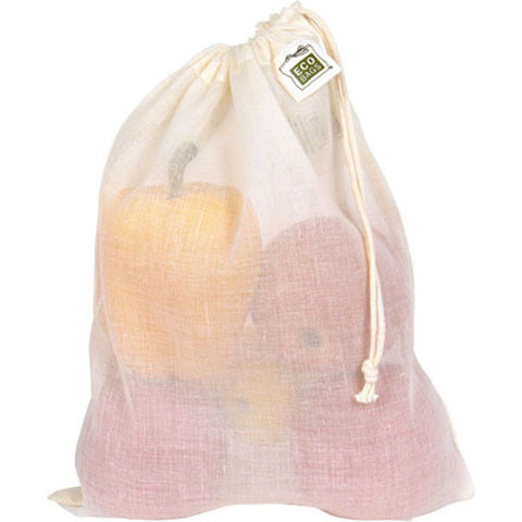 ECO-BAGS - Drawstring Produce Bag Cotton Gauze Medium