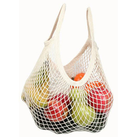 ECO-BAGS - Organic Cotton String Bag Tote Handle Natural