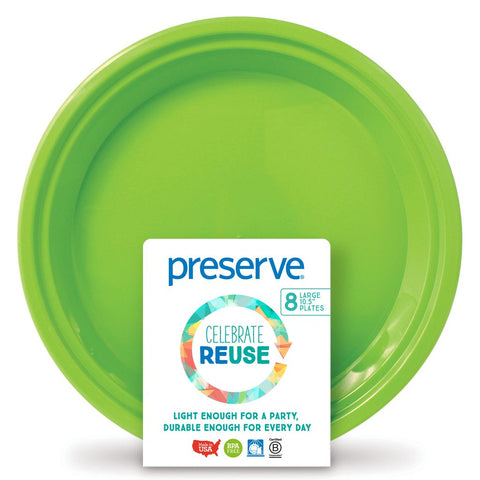 PRESERVE - On The Go Plate Green Apple Large