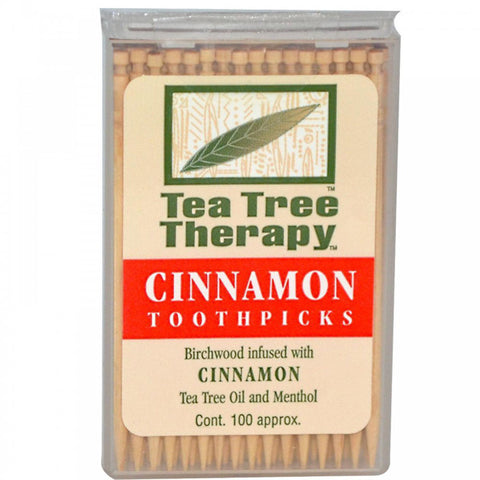 TEA TREE THERAPY  INC - Tea Tree Therapy Toothpicks (Cinnamon)