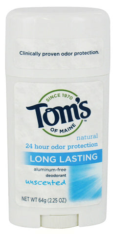 TOM'S OF MAINE - Deodorant Stick Long Lasting Unscented