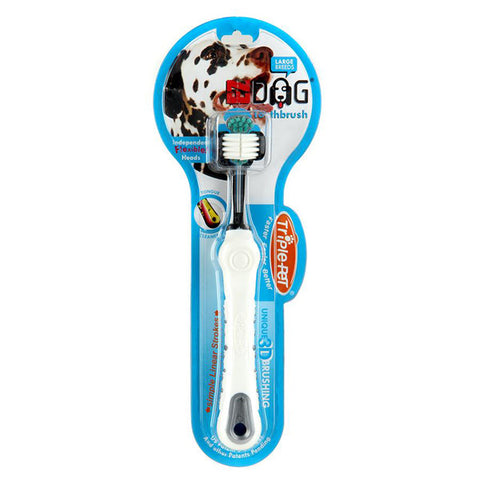 TRIPLE PET - EZ Dog Toothbrush for Small Breeds