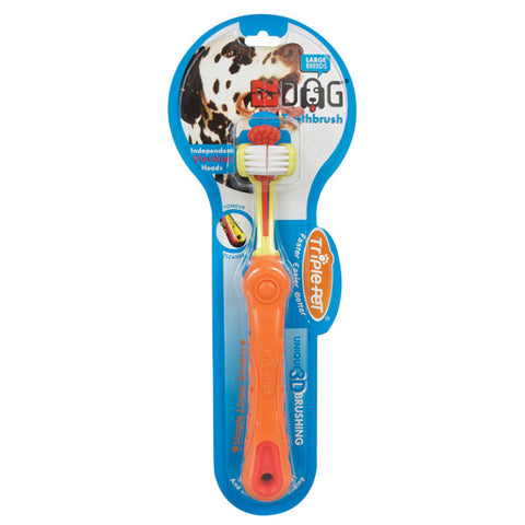TRIPLE PET - EZ Dog Toothbrush for Large Breeds