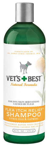 BRAMTON - Vets Best Flea Itch Relief Shampoo - 16 fl. oz. (470 ml)