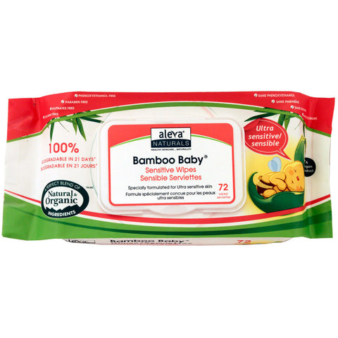 ALEVA - Bamboo Baby Wipes Ultra Sensitive