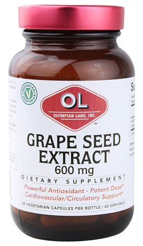 OLYMPIAN LABS - Grape Seed Extract 600 mg - 60 Vegetarian Capsules
