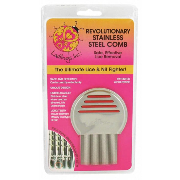 LADIBUGS - Lice Stainless Steel Comb