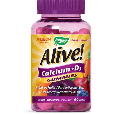 NATURES WAY - Alive Calcium Plus Vitamin D3 Gummies