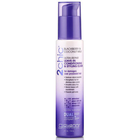 GIOVANNI - 2chic Blackberry & Coconut Milk Leave-In Conditioner and Styling Elixir