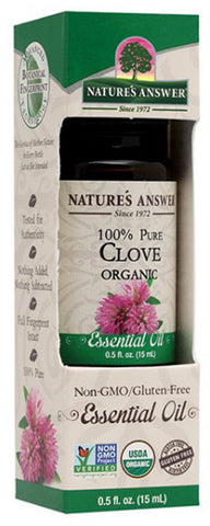 NATURES ANSWER - Essential Oil Organic Clove Bud