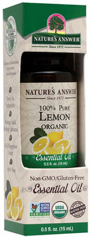 NATURES ANSWER - Essential Oil Organic Lemon