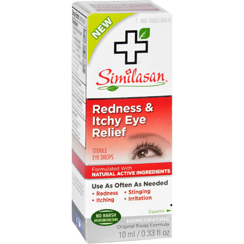 SIMILASAN - Redness & Itchy Eye Relief - 0.33 fl. oz. (10 ml)