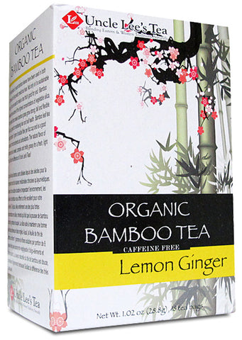 UNCLE LEE'S TEA  - Organic Bamboo Tea Lemon Ginger