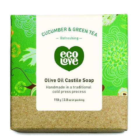 ECOLOVE - Olive Oil Castile Soap Cucumber & Green Tea