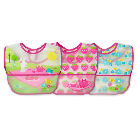 GREEN SPROUTS - Wipe-Off Bib, Pink Picnic Set