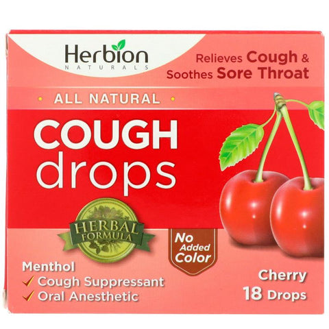 HERBION - All Natural Cough Drops, Cherry