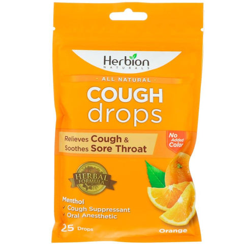 HERBION - All Natural Cough Drops, Orange