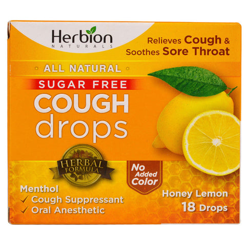 HERBION - All Natural Cough Drops, Honey Lemon