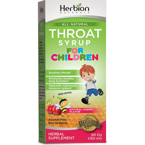 HERBION - Throat Syrup for Children, Natural Cherry