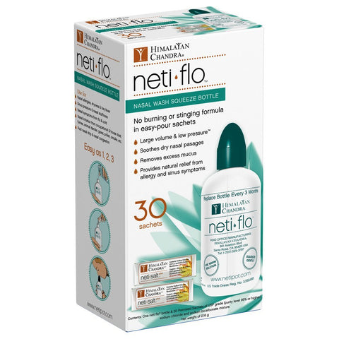 HIMALAYAN - Neti Flo Nasal Wash Bottle with 30 Sachets