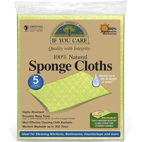 IF YOU CARE - 100% Natural Sponge Cloths