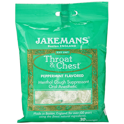 JAKEMANS - Throat and Chest Lozenges, Peppermint