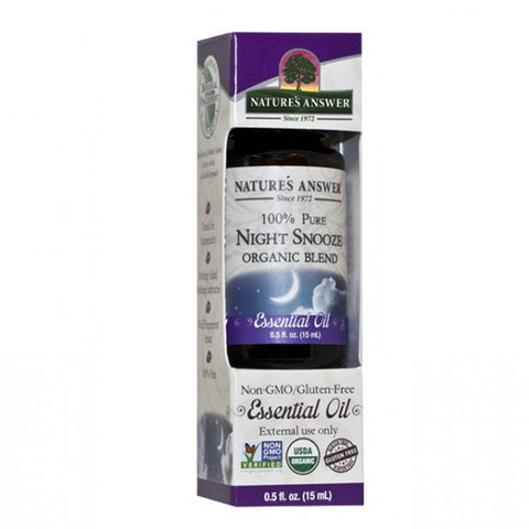 NATURE'S ANSWER - Organic Essential Oil, 100% Pure Night Snooze