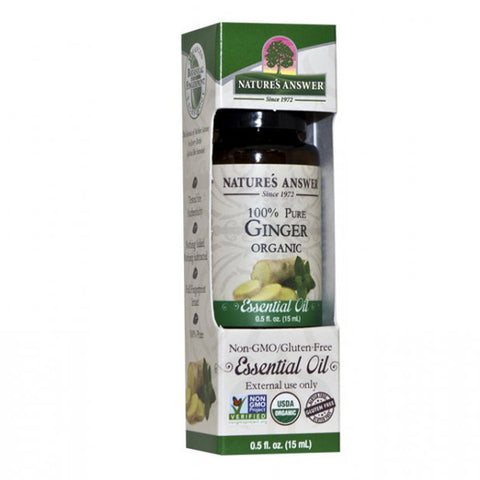 NATURE'S ANSWER - Organic Essential Oil, 100% Pure Ginger