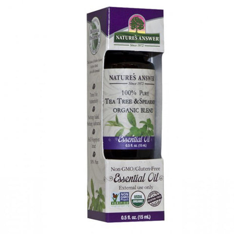 NATURE'S ANSWER - Organic Essential Oil, 100% Pure Tea Tree and Spearmint