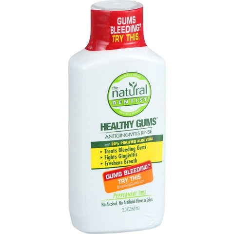 NATURAL DENTIST - Anti Gingivitis Rinse Healthy Gums Peppermint Twist