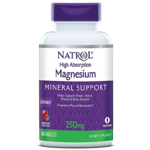NATROL - High Absorption Magnesium Natural Cranberry Apple Flavor