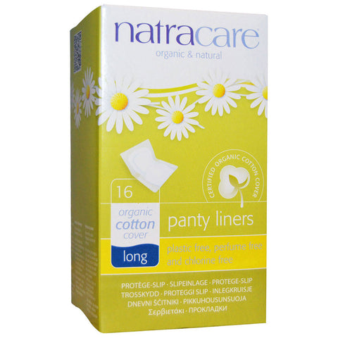 NATRACARE - Organic & Natural Panty Liners Long, Wrapped
