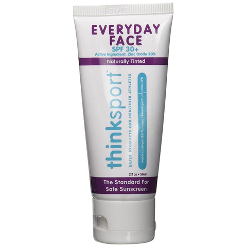 THINKSPORT - Everyday Face Sunscreen, Naturally Tinted, Currant