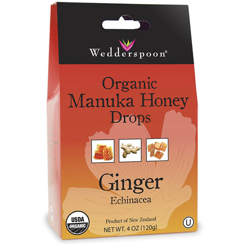 WEDDERSPOON - Organic Manuka Honey Drops, Ginger with Echinacea