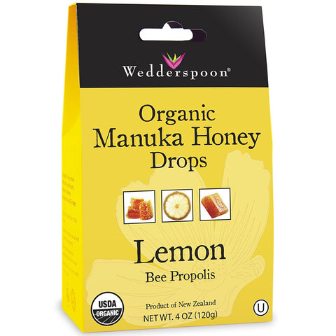 WEDDERSPOON - Organic Manuka Honey Drops, Lemon with Bee Propolis