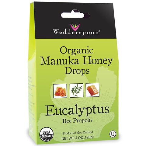 WEDDERSPOON - Organic Manuka Honey Drops, Eucalyptus with Bee Propolis