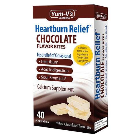 YUM V'S - Heartburn Relief Chocolate Flavored Bites