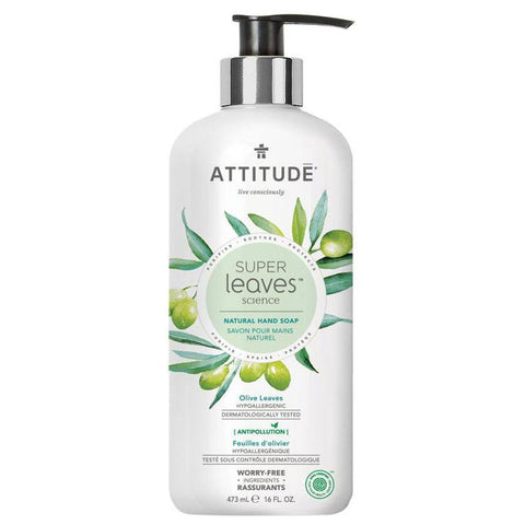 ATTITUDE - Natural Hand Soap Olive Leaves & Grape Seed Oil
