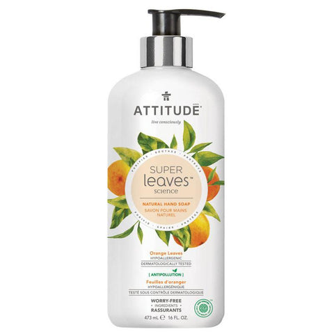 ATTITUDE - Natural Hand Soap Orange Leaves & Soy Protein