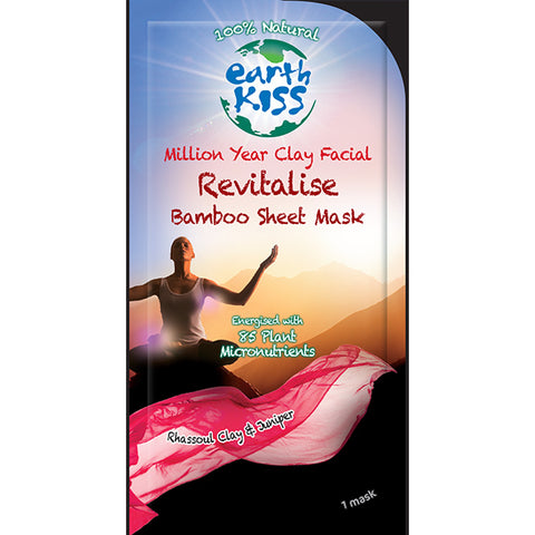 EARTH KISS - Million Year Clay Facial Revitalise Bamboo Sheet Mask
