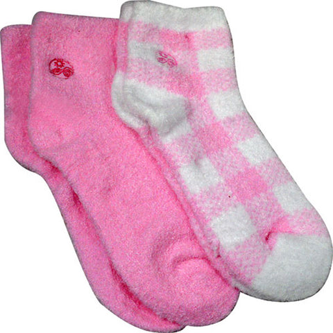 EARTH THERAPEUTICS - Aloe Moisture Socks Pink Plaid