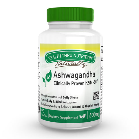 HEALTH THRU NUTRITION - Ashwagandha 500mg Pure KSM­66