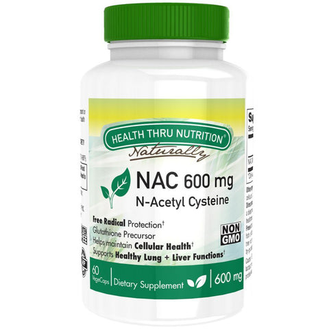 HEALTH THRU NUTRITION - NAC 600mg N-Acetyl Cysteine