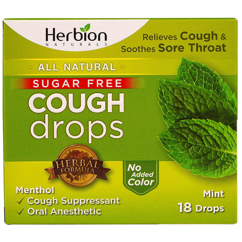 HERBION - Cough Drops Mint Sugar Free