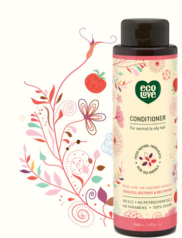 ECOLOVE - Red Collection Conditioner for Normal to Oily Hair