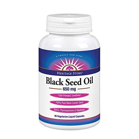 HERITAGE STORE - Black Seed Oil 650 mg